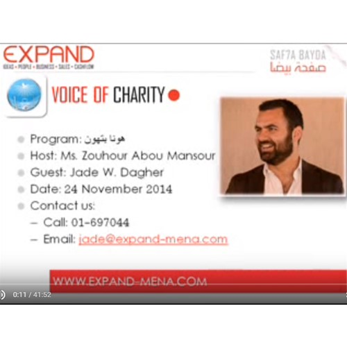 JADE W. DAGHER INTERVIEW ON VOICE OF CHARITY-NOVEMBER 24, 2014
